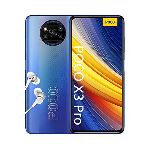 "POCO X3 PRO Smartphone + Kopfhörer (16,94cm (6,67"") FHD+ LCD DotDisplay 120Hz, 8GB+256GB Speicher, 48MP Quad-Rückkamera, 20MP Frontkamera, Dual-SIM, Android 11) Blau - [Exklusiv bei Amazon]"