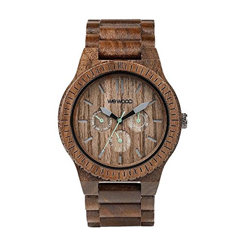 WEWOOD Herren Analog Quarz Smart Watch Armbanduhr mit Holz Armband WW15005