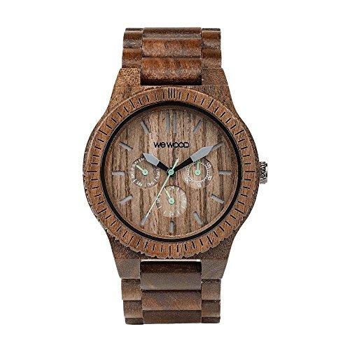 WEWOOD Herren Analog Quarz Smart Watch Armbanduhr mit Holz Armband WW15005