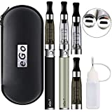 Ovuul Ego-T CE4 Mini E-cigarette électronique Double Kit Complet Stylo Débutant Vape Pen AIO Atomiseur Vapoteuse Avec Batterie Rechargeable 1100mAh Sans Nicotine Ni Tabac (2 x eGo-T CE4)