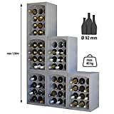 SoBazar - Lot de 4 Étagères à vins - 4 Casiers Range Porte Bouteilles...