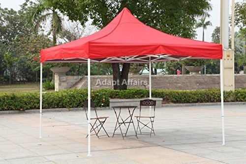 Invezo Impression - 10 x 10 Feet / 3 x 3 Meter (18 kgs - Light Duty Red) Gazebo Tent, Portable Tent, Fold able Tent - 2 Minute Installation