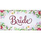 Ethisa Bride Beach Towel - Beach Bachelorette Party Towel - Large Travel Friendly Honeymoon Bride Towel - Great for Bachelorette Pool Party and Beach Wedding Gift for Bride to Be - 60'x30'