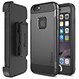 Trianium iPhone 6 / 6s Case [Duranium Series] Holster Case for Apple iPhone 6 6s w/Built-in Screen Protector Heavy Duty + Ultra Protection Phone Cover [Black/Gunmetal] (TM000180)