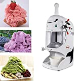 Commercial Electric Ice Shaver Snow Cone Maker Machine Premium Shaved Ice Machine for Milk Tea Shop, Coffee Shop, Home