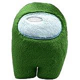 OPAKY Among Us Juguete de Peluche Animales Entre Muñeco Lindo Decorativo Suave para Niños Regalo De Cumpleaños De Navidad (Verde)