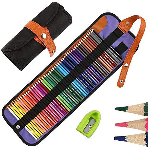 Matite Colorate Professionali da Disegno, Set da 50 Pezzi Pastelli Colorati, Ideali per Sfumare e Stratificare,Art Supplies per libri da colorare per adulti o per il materiale scolastico dei bambini
