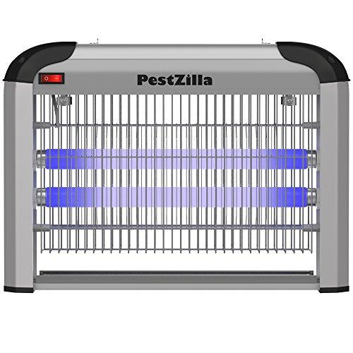 PestZilla Robust UV Electronic Bug Zapper – 20 Watts, Large-Area Prot, White