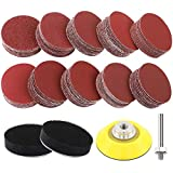 Coceca 180pcs 2 Inches Sanding Discs Pad Kit for Drill Sander, Drill Sanding Attachment Sandpapers with Backer Plate a Quarter Inch Shank