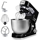 Stand Mixer, Cusimax 800W Dough Mixer Tilt-Head Electric Mixer with 5-Quart Stainless Steel Bowl,...