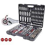KS Tools 917.0795, Jeu de 195 douilles et clés Torx 1/4', 3/8' et 1/2'.