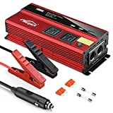 Maxpart 1000W Power, Modified Sine Wave Inverter Truck/RV Inverter 12V DC to 110V AC Converter with Dual AC Outlets 2.4A USB Inverter and Dual 12V Car Cigarette Lighter Modified Wave Inverter