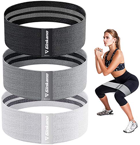 Haquno Resistance Bands, Non-Slip Exercise Loop Bands for Hips and Glutes 3 Resistance Levels for Butt, Legs and Whole Body Work Out, Best for Home Fitness, Yoga, Pilates