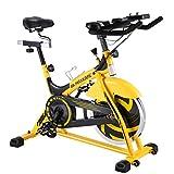 MaxKare Stationary Bike Belt Drive Indoor Cycling Bike 44lbs Flywheel & Pulse Sensor/LCD Monitor/Ipad Mount Exercise Bike w/Adjustable Handlebar for Home Cardio Workout