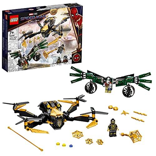 LEGO 76195 Marvel Spider-Mans Drohnenduell, Spielzeug für Kinder ab 7 Jahren, tolles Weihnachts-...