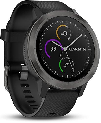 Garmin vivoactive 3 GPS-Fitness-Smartwatch - vorinstallierte Sport-Apps, kontaktloses Bezahlen mit Garmin Pay, Gunmetal (Generalüberholt)
