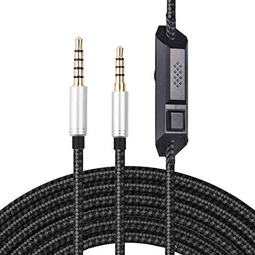 Astro A10 Kabel, A40 Kabel, Ersatz Kopfhörer Kabel für Astro A10/A40 Gaming Headset, Audiokabel kompatibel mit Xbox One, Play Station 4 PS4, mit In-Line Stummschaltung und Mikrofon Lautstärkeregler