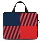 15.6″Durable Hombro Mensajero Bolsa maletín PC Tartán a Cuadros de búfalo Rojo y Azul Marino rústico Moda Impermeable Ordenador Portátil/portátil/Tablets