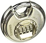 BRINKS 173-80051 Stainless Steel Resettable Combination Discus Padlock, 80 mm