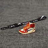 ahjs456 Zapatillas de Baloncesto con Personalidad de Pareja de Marca de Marea 3D tridimensionales Adornos Jordan aj1 Bolsa de Zapatos pequeños Llavero Colgante Mochila Escolar 6
