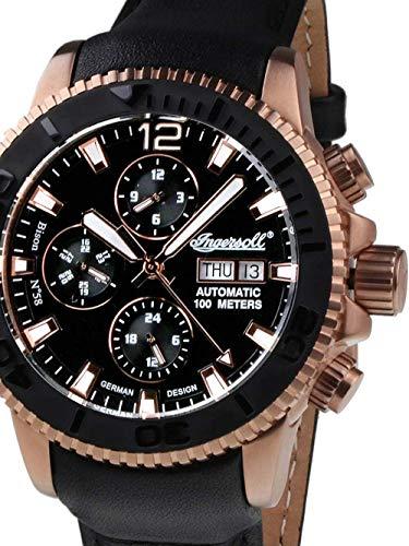 Ingersoll Herren Analog Automatik Uhr mit Plastik Armband IN1105RBK