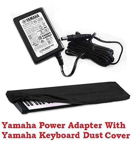 Mexa Compatible With Yamaha PA-150B Adaptor For Yamaha PSR-E453, E463, I400, I425, I455, I500, Keyboard With Dust Cover.