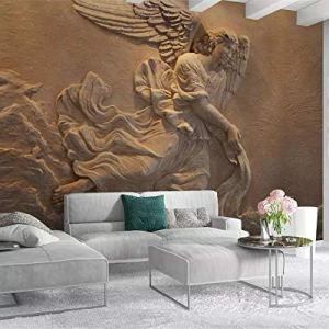 Avikalp Exclusive AWZ0275 3D Wallpaper 3D Mural European 3D Relief Figure Mythical Angel Background HD 3D Wallpaper(518cm x 304cm)