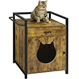 MSMASK Maison pour Chat, Enceinte de litière pour Chat avec tiroir de...