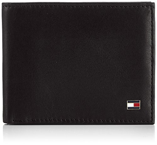 Tommy Hilfiger Eton Mini CC Wallet, Cartera para Hombre, Black 990, 11x9x2 cm (B x H x T)