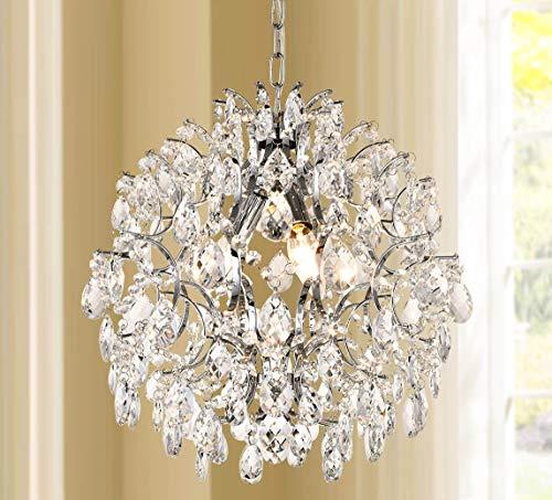 Bestier Modern Pendant Chandelier Crystal Raindrop Lighting Ceiling Light Fixture Lamp for Dining Room Bathroom...