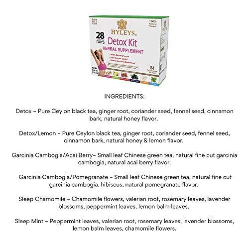Hyleys Tea 28 Days Detox Kit - 84 Tea Bags - (100% Natural, Sugar Free, Gluten Free and Non-GMO) 4