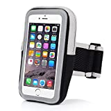 Yostyle 5.5 Sports Armband Sweatproof Running Armbag Gym Fitness Workout Cell Phone Case for iPhone X 8 7 6s Plus Samsung Galaxy S5 S6 S7 S8 Edge 5.5 Inch(Black)
