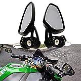 Moto Rétroviseurs Latéraux 7/8'22mm Alliage d'Aluminium Guidon Rétroviseurs pour vélo de Sport...