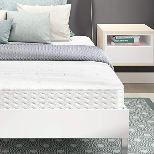 Signature Sleep Contour Encased Mattress, Full, White