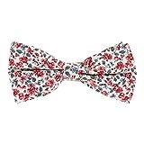 Noeud Papillon Liberty Corail et Blanc - Noeud Papillon Homme Fleuri - Mariage champetre à Fleurs - Cérémonie thème Floral