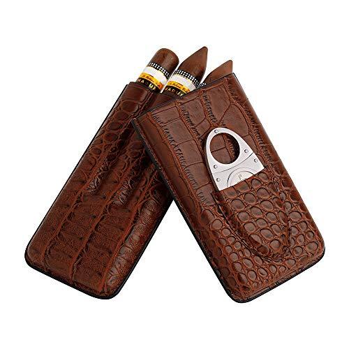 PIPITA Étui à cigares en cuir Marron, y compris l'ensemble de coupe,...