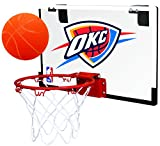 Rawlings NBA Game On Polycarbonate (PC) Mini Basketball Hoop Set, Oklahoma City Thunder