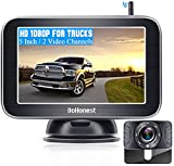 """DoHonest Wireless Backup Camera HD 1080P with 5"""" Monitor for Truck Pickup Car Minivans Small RV Bluetooth Backup Camera Night Vision Waterproof Easy Installation Second RV Camera Available Add on-V25"""