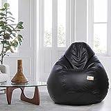 Sattva Classic Bean Bag Filled with Beans XXXL Size - Black Colour