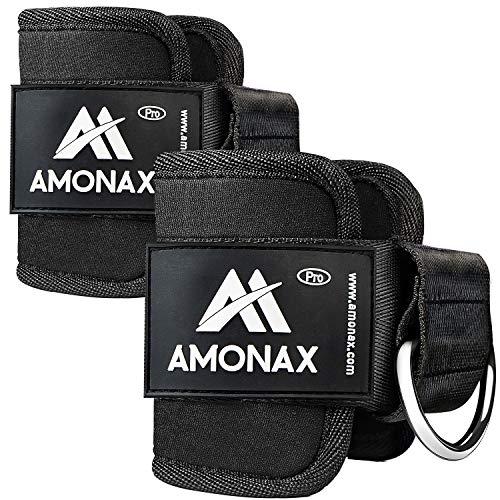 Amonax tobillera para polea (acolchado) para piernas y tobillos, 2...