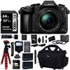 Panasonic LUMIX G85MK 4K Mirrorless Interchangeable Lens Camera Kit, 12-60mm Lens, Lexar U3 64GB Memory Card, 2 Spare Batteries, Charger, Bag and Accessory Bundle