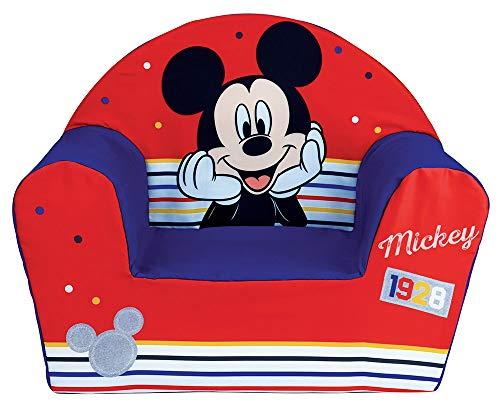 Fun House Disney 713012-Poltrona da Club per Bambini, Motivo: Topolino, Prodotto in Francia, Poliuretano, à partir de 18 Mois