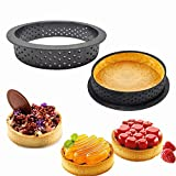 8pcs Mini Tart Ring Mold for Baking,English Muffin Ring Molds 3.5 Inch,Circle Cutters Baking Cake Mousse