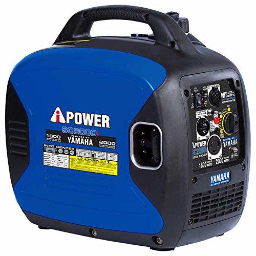 A-iPower Yamaha Engine SC2000iV 2000-Watt 120 V Super Quiet Inverter Generator CARB EPA, Blue