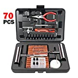 ORCISH 70Pcs Tire Repair Kit, Heavy Duty Tire Plug Kit for Car, Truck, RV, Jeep, ATV, Tractor, Trailer, Motorcycle - Universal Tire Repair Tools to Fix Punctures and Plug Flats