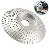 Tungsten Carbide Grinding Wheel Wood Shaping Grinder Wheel Plate for Angle Grinder 3.3 Inch Sanding Carving Shaping Polishing Abrasive Disc (Silver)