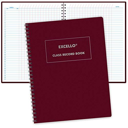 Class Record Book Unstructured.Set it up to Record Grades Your Way! 40 Student Names (Excello)
