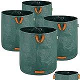 4X Sacs de Jardin 500L 50 kg Sac de déchets ordures végétaux Tissu renforcé...