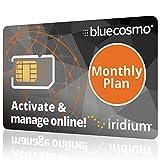 BlueCosmo Iridium Satellite Phone Global SIM Card - Monthly Airtime Service Plans for Iridium Extreme - Iridium 9555 - Iridium 9505A - Iridium GO! - No Activation Fees - Online Activation 24/7