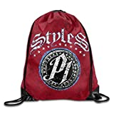 Etryrt Mochilas/Bolsas de Gimnasia,Bolsas de Cuerdas, AJ Styles Wrestling Drawstring Backpack Travel Sports Bag
